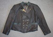 Vtg Womens Trachten Jacket Leather Hunting Tyrol Oktoberfest Austria Size 46