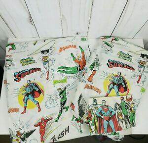 Vintage DC Comics 1977 Super Friends Twin Set Fitted & Flat Sheet Pillowcase