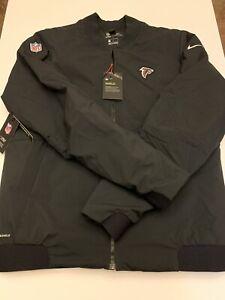 Nike Shield Atlanta Falcons Sideline Bomber Full Zip Jacket 943962-010 Sz Medium