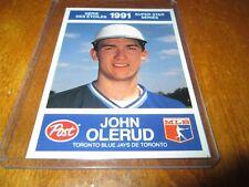 1991 POST/ 17 JOHN OLERUD TORONTO BLUE JAYS