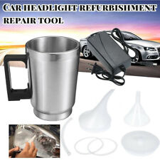 Car Headlight Lens Atomizing Cup Polish Repair Tool Restoration Restore Kit 12V