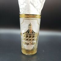 Vintage Paramount's Kings Island  Souvenir Gold Culver Glass Merry Go Round