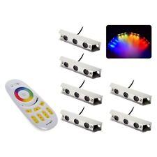 Sublight RGB Unterwasser boot licht starter-Kit - 6 Lampen und Remote