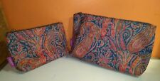 Two Liberty of London Purple label cosmetics bags