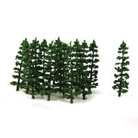 HO Model Train Layout Tree Forest Landscape Street Scenery Fir Trees 20PCS
