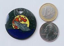 * Gray Whale Geocoin Dorkfish Fluke Breech Glitter Moon Wearable Unactivated