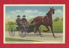 Amish Boys Out For A Drive Lancaster County Pennsylvania (PA) 1947