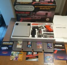 Nintendo Entertainment System NES Grey Console Action Set Complete With 4 games