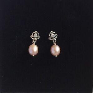 Pandora Rose Freshwater Pearl Drop Earrings  Item No. 290536CZ