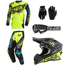 ONeal Element Villain motocross dirt bike gear - Helmet Jersey Pants Gloves set