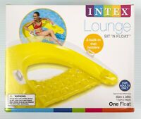 Intex Sit N Float Inflatable Lounge 60 x 39 inches Colors May Vary DMGD BOX DISC