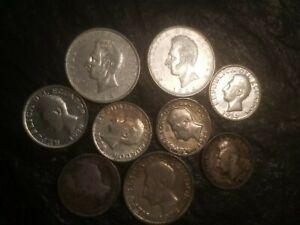 Lot of Six Silver Ecuador Un Sucre & 3 Dos Sucre Silver Coin Coins