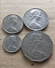 ⚡1979 Australian 50 Cent, 20 Cent, 10 Cent, 5 Cent Coin Set Of 4 🇦🇺FREE Post💰