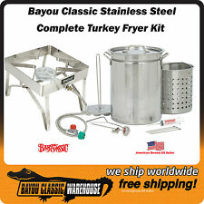 Bayou Classic 1195 All Stainless Steel 32 Quart Complete Turkey Fryer Kit