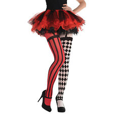 Amscan Circus Clown Tights Stockings Freakshow Womens Fancy Dress Halloween
