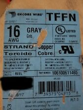 Encore Wire & Cable  #16awg 26 Stranded TFFN/AWM/MTW Building Wire Gray /100ft