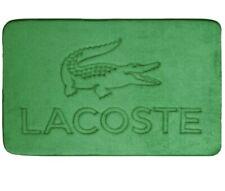 """Lacoste Memory Foam Bath Mat Green / Crocodile 21"""" x 34"""" New"""