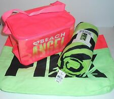 Victoria's Secret Pink Limited Edition Beach Tote + Towel & Angel Cooler NWT