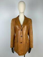 BLAKES Made in England Lederjacke Leder Jackett Leather Jacket Braun Brown S