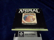 Vintage Animal Bytes Larry the Lion Apple II series and Commodore 64 C128 Game