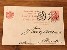 1912 Romania to Breslau Poland Postcard
