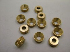 Solid brass turned patterned screw cup washers sockets,pack 12 countersunk No.8