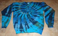 New Mens S, M, L, XL ,2XL, 3XL Tie Dye Dyed Hippie Crew Heavy Cotton Sweatshirt