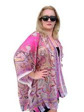 NEW Silk Kimono Robe, Boho Style Silk Cover up, Kimono Jacket, Plus Size 195pink