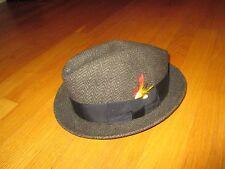 Men's Vintage Newport Merino Felt Feather Fedora Hat Size 7