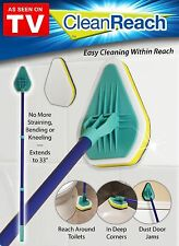 Clean Reach AS SEEN ON TV Telescoping Shaft With Angled Cleaning Pad Scrub Brush