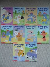 COOL CATS SCHOLASTIC PHONICS LOT 10~Play Jazz~Hip-Hop~At Bat~Make Hats~Box~Bake~