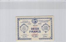 Chambre de Commerce d'Elbeuf 2 Francs 1917 n° 00007 Petit numéro Rare