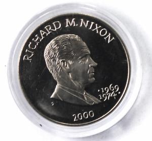 2000 S Liberia 5 Five Dollars Copper Nickel Coin Gem Unc Richard M Nixon