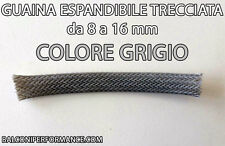 GUAINA ESPANDIBILE TRECCIATA GRIGIA Ø da 8 a 16 mm PER CAVI CAR AUDIO TUNING