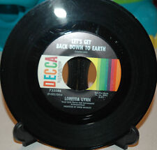Loretta Lynn  LET'S GET BACK DOWN TO EARTH / WINGS UPON HORNS ~ VG+~ DECCA DECCA