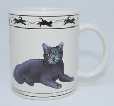 Vintage Cat Lovers Limited Collectable Cats Chartreux & Turkish Van Cat Mug