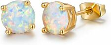 GORGEOUS Opal Earrings 18k Gold Plated Beautiful Stud Earrings for Women Cute
