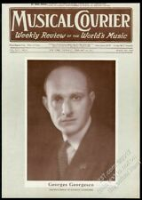 1927 George Georgescu Georges Georgesco photo Musical Courier framing cover
