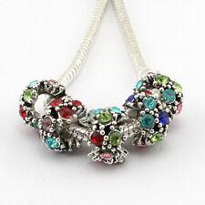 hot 5pcs retro Tibetan silver big hole beads fit Charm European Bracelet