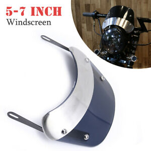 "5''-7"" Retro Motorcycle Round Headlamp Front Windshield Bracket Fit For CG GN125"