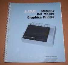 Atari 520 1040 ST STE Mega TT Computer SMM804 Printer user manual book