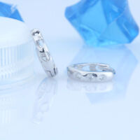 B Ware: Creolen 3 Zirkonia Herz echt Sterling Silber 925 Damen Ohrringe Kreolen