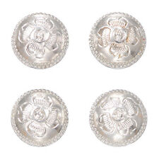 Set of 4 Magnetic Shirt Back Horse Show Number Holders Tooled Silver