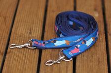 Dachshund ribbon dog lead 20mm & 25mm wide