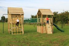 THE RYANS Double 6ftsq Huge Spec OUTDOOR QUALITY WOODEN CLIMBING FRAME RRP £1995