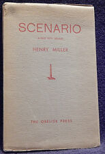 Miller, Henry.  Scenario (A Film with Sound).  Signed, Limited Edition