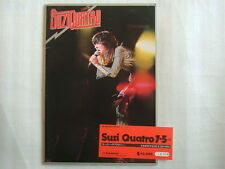 SUZI QUATRO TOUR PROGRAM WITH TICKET 1976