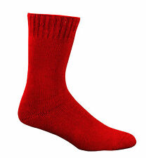 3 X Pair 92 Bamboo Work Socks Extra Thick All Sizes All Colours BT Post Mens 10-14 Fire Red