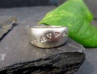Hervorragender 925 Silber Ring Zirkonia Matt Breit Platin Optik Modernes Design