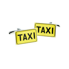 Yellow Taxi Sign Style Cufflinks in a Cufflink Box X2BOCR164